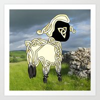 lamb Art Prints featuring Lamb by Knot Your World
