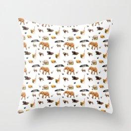African Savanna Wildlife Pattern Throw Pillow
