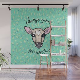 Change Your Perspective Tan Baby Cow Wall Mural