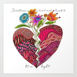 Broken Heart Art Print