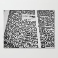 letters Canvas Prints featuring letters by dearforlorn