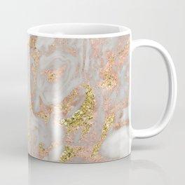 Rose gold marble dazzling swirl Coffee Mug