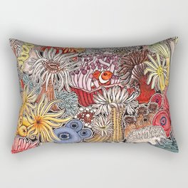Clown fish and Sea anemones Rectangular Pillow