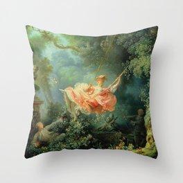 The Swing by Jean-Honoré Fragonard Throw Pillow