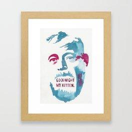 ERNEST HEMINGWAY//LAST WORDS Framed Art Print