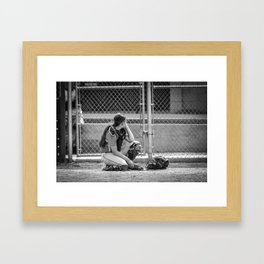 Catcher in Thought Framed Art Print
