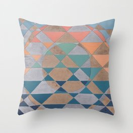 Circles and Triangles Throw Pillow
