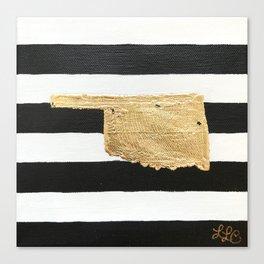 Oklahoma Stripes Canvas Print