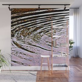 Pink Sky Reflected in Ripples Wall Mural