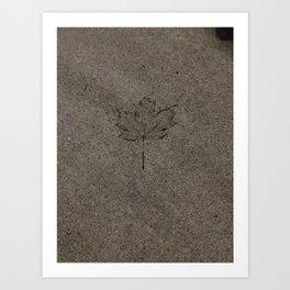 Cemented leaf Art Print