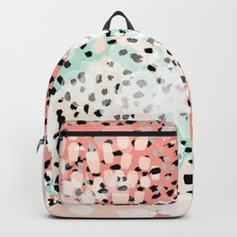 Phoebe - abstract painting minimal gender neutral trendy nursery decor home office art Backpack