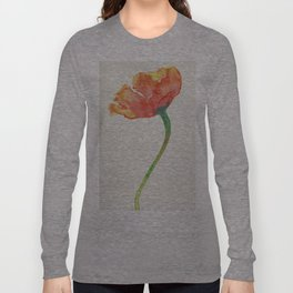 Fire Poppy Long Sleeve T-shirt