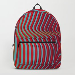 OpArt WaveLines 2 Backpack