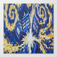dr who Canvas Prints featuring Dr Who by giftstore2u