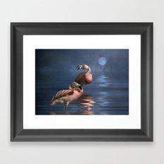 Flamingo Moon Framed Art Print
