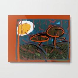 Jungle under an egg-moon Metal Print