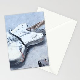 rock n roll guitar Stationery Cards