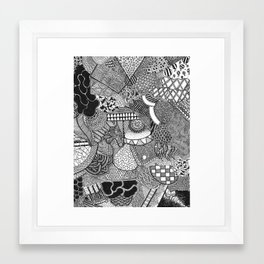 Doodle one Framed Art Print