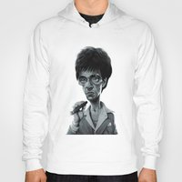 scarface Hoodies featuring Scarface by Nicolas Villeminot