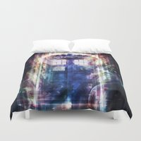tardis Duvet Covers featuring Tardis by jasric