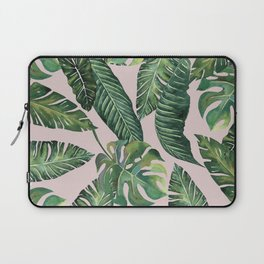 Jungle Leaves, Banana, Monstera Pink #society6 Laptop Sleeve