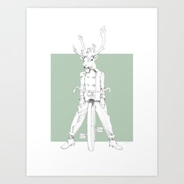 Weird & Wonderful: Racing Reindeer Art Print