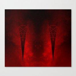 Devil Woman Pentagram Canvas Print