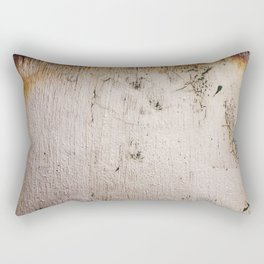 Distressed Silver Gold Leaf Rectangular Pillow