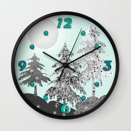 Christmas night 2 Wall Clock