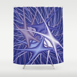 chaotic colors -3- Shower Curtain