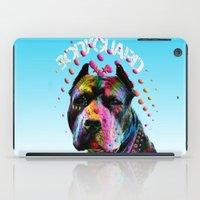 pitbull iPad Cases featuring pitbull  by mark ashkenazi
