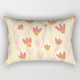 Red Tulips Pattern Rectangular Pillow