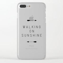 Walking On Sunshine Arrow Clear iPhone Case