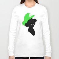 luigi Long Sleeve T-shirts featuring Luigi Bros by Bonitismo