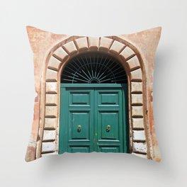Door in Rome Throw Pillow