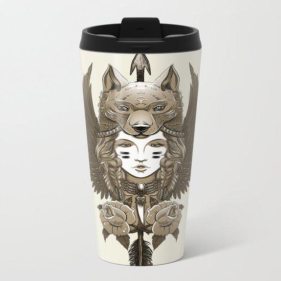 Native girl (light version) Metal Travel Mug