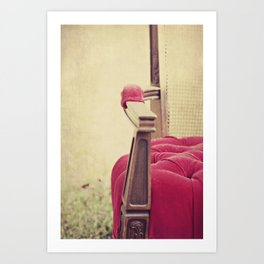 Old Red Chair Art Print