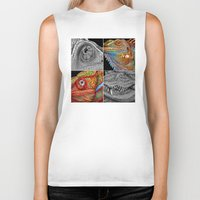 scales Biker Tanks featuring Reptile Scales by Tim Jeffs Art