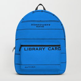 Library Card BSS 28 Blue Backpack