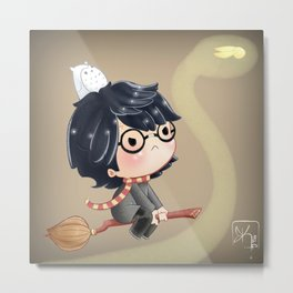 HP and the Snitch Metal Print