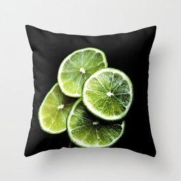 lemon lima Throw Pillow