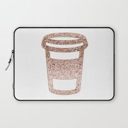 Sparkling rose gold coffee cup Laptop Sleeve