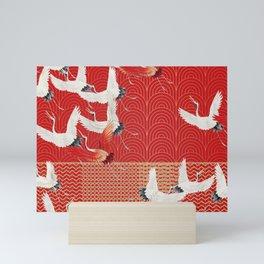 FLYING CRANES Mini Art Print