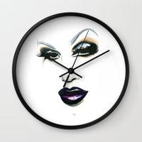 rupaul Wall Clocks featuring Sharon Needles by Justin Van Pelt