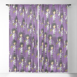 Purple People Sheer Curtain