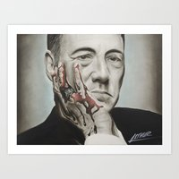 frank underwood Art Prints featuring Frank Underwood, House of Cards by Arthur Volper