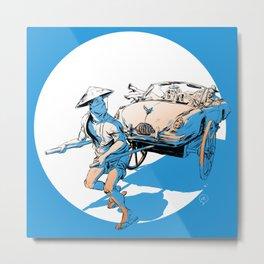 The Rickshaw  Metal Print