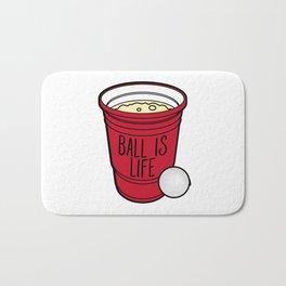 Ball Is Life Beer Pong Bath Mat