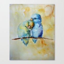 Cute Birds in Love Canvas Print