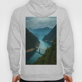 lake and mountains, Montenegro Hoody
